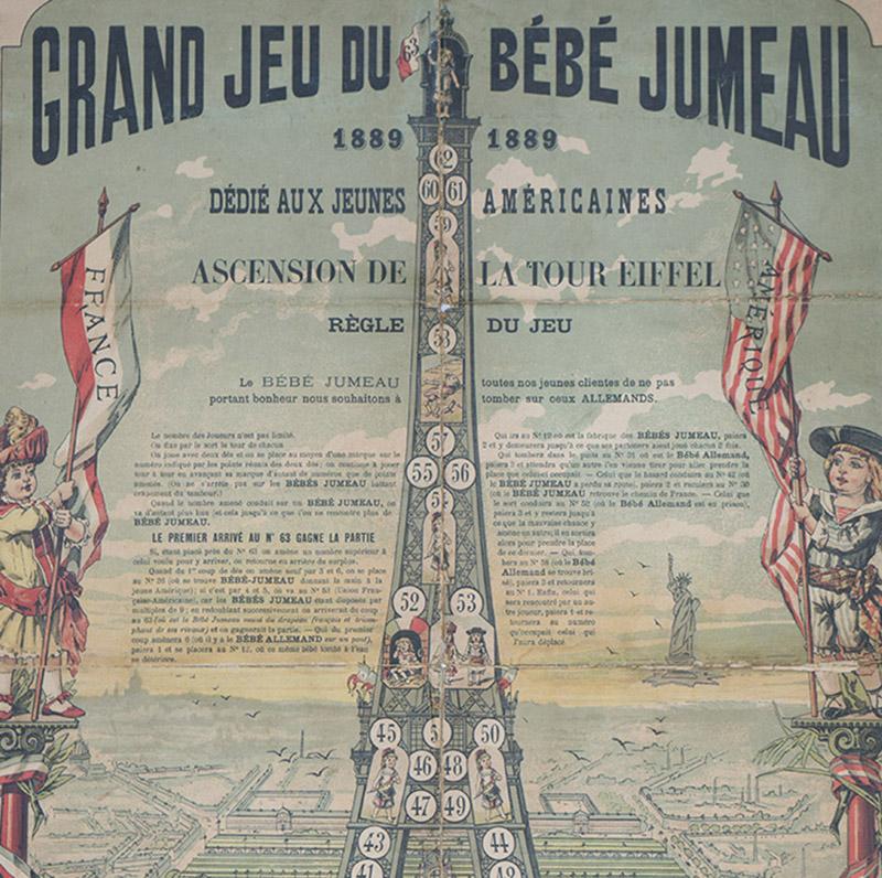 Очень редкая  Афиша-игра bebe Jumeau, 1889