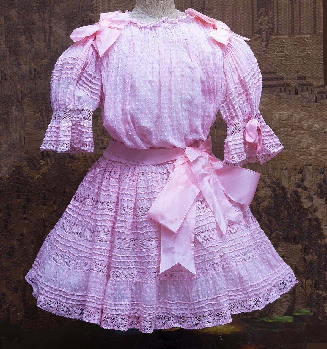 Оригинальное французское платье для большой куклы
