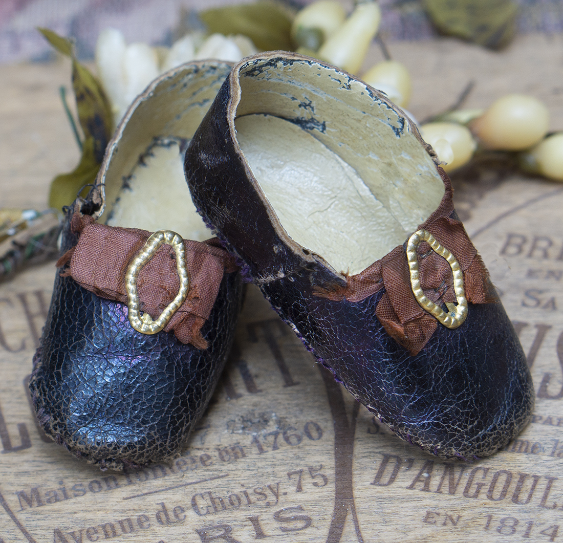 Antique doll shoes