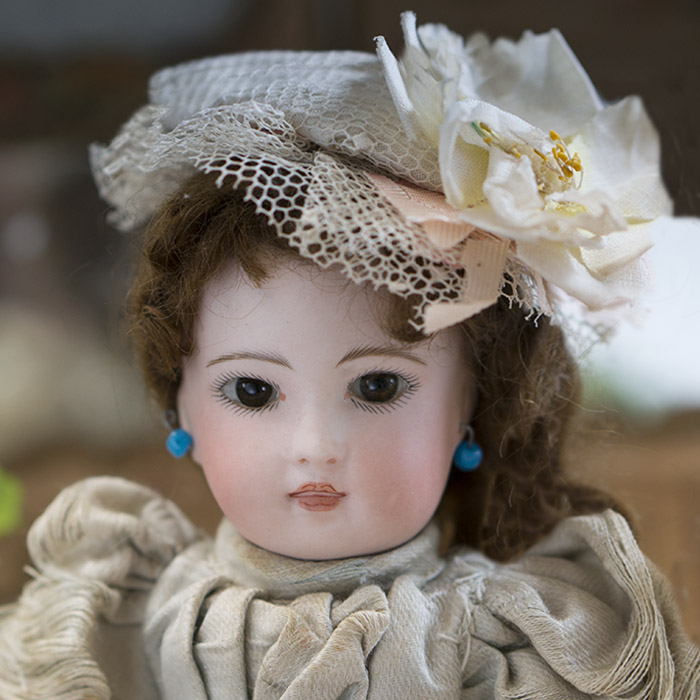 Solid domed bisque head doll