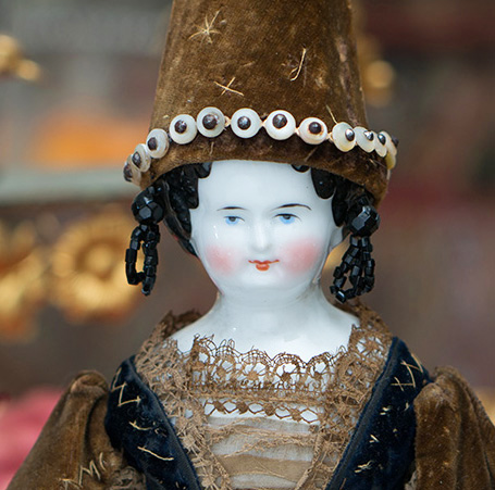 German Porcelain Fortune-Telling Doll