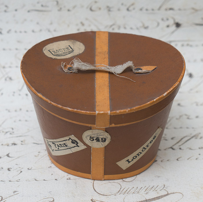 Antique French hat box