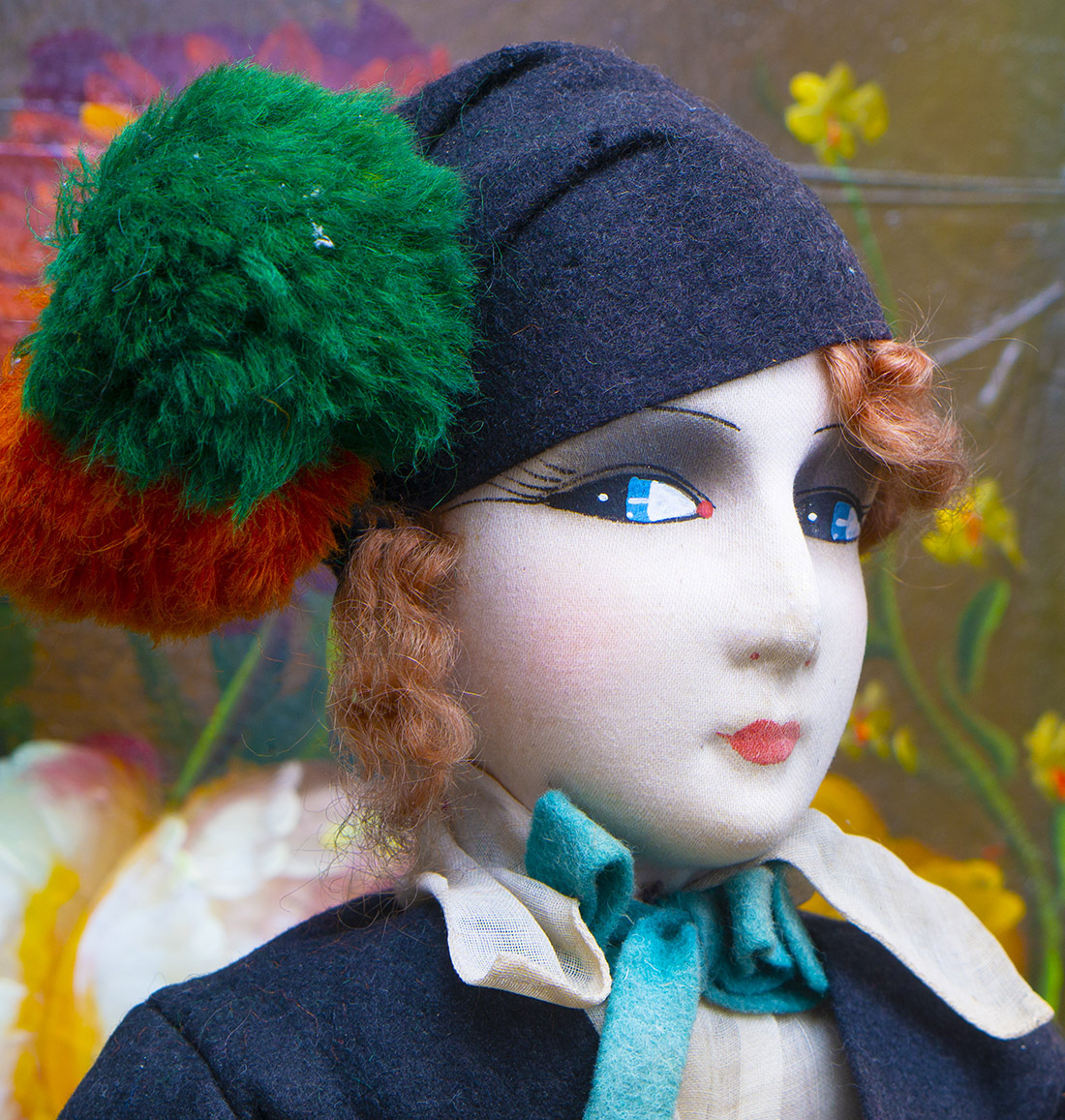 Antique Arlequin doll