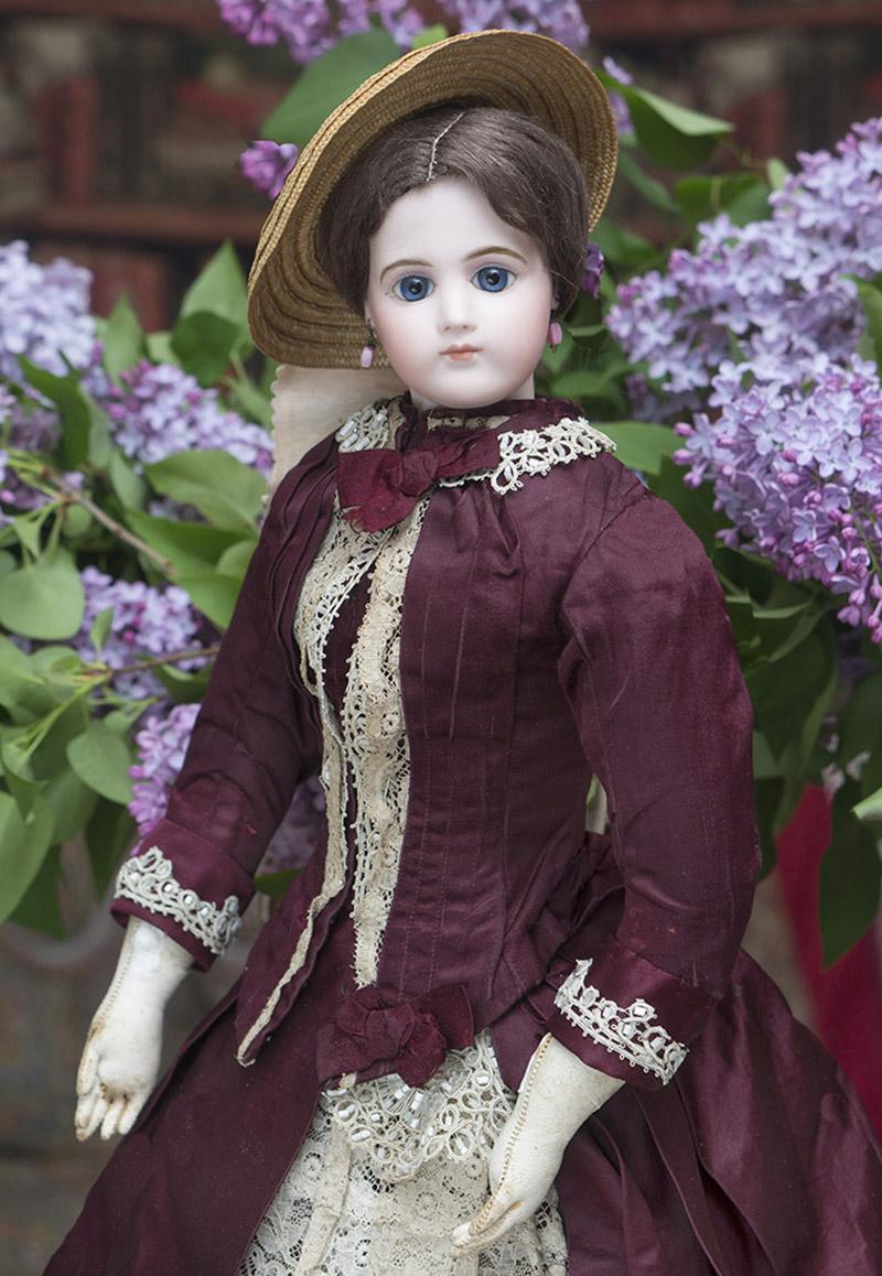 56см Ранняя Модная кукла Jumeau в оригинальном костюме