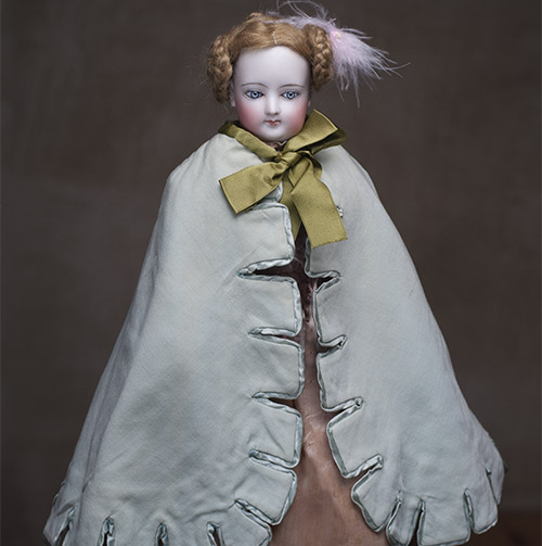 Antique Aqua Cape for Fashion doll