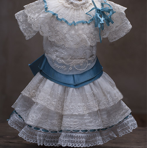 Antique Lace dress for doll about 19-21