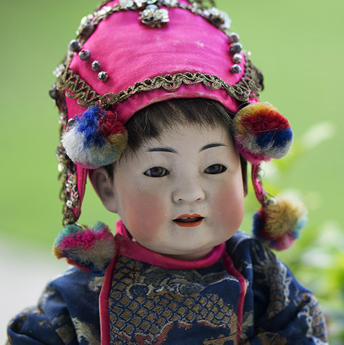 Chinese doll boy by Kestner