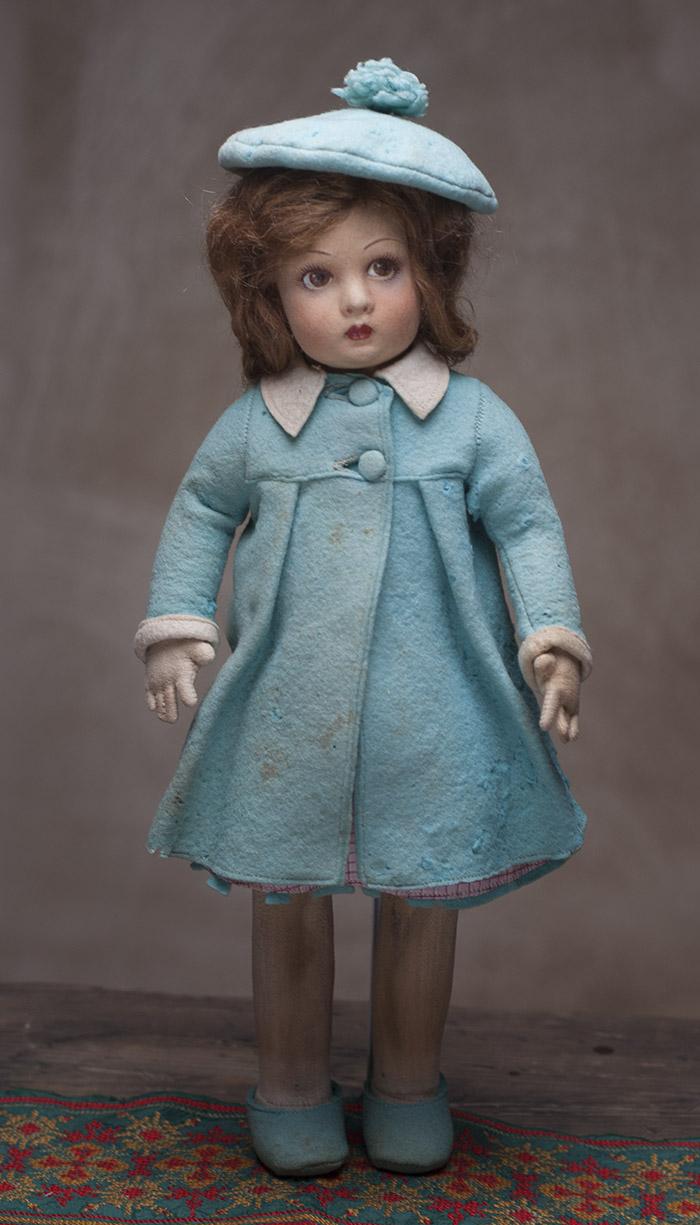 Кукла LENCI в оригинальном костюме - Италия, 1930-е годы