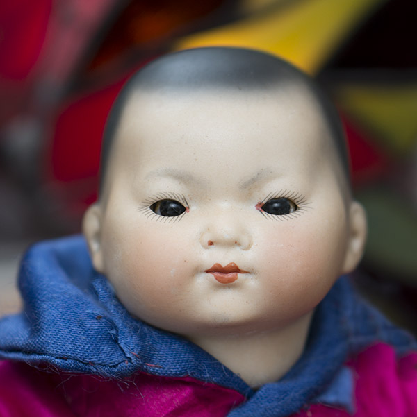 Antique  Asian  Baby ELLAR  by A.M.