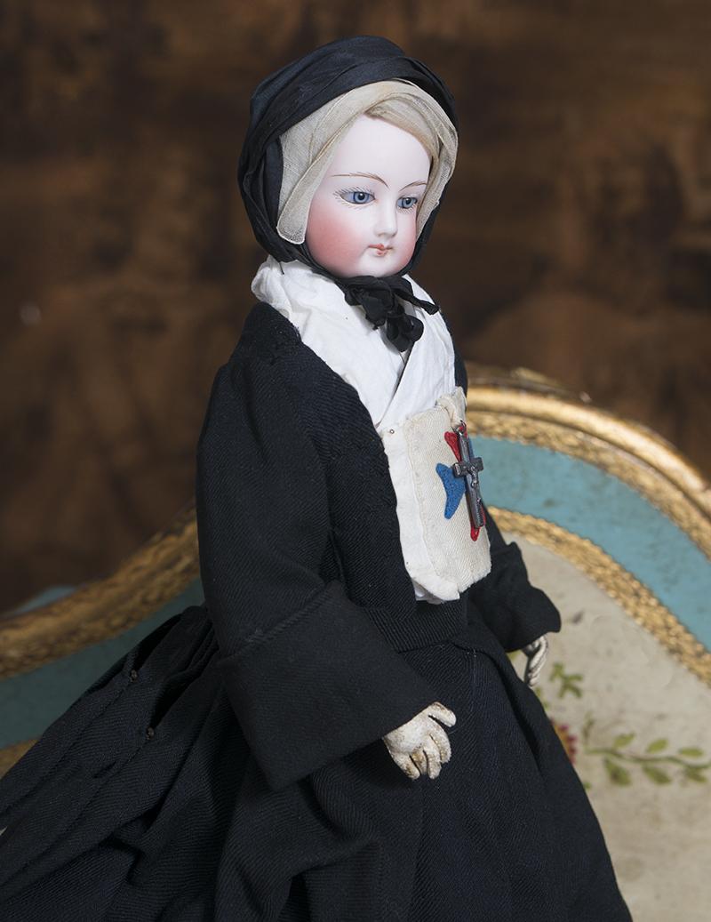 37см Редкая модная кукла -монашка Мальтийского Ордена, фирма Готье