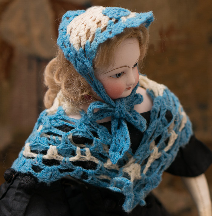 Antique Wool Shawl & Bonnet
