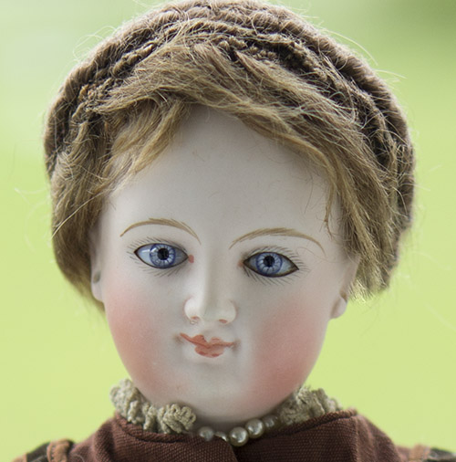 French Bisque Smiling fashion doll by Bru