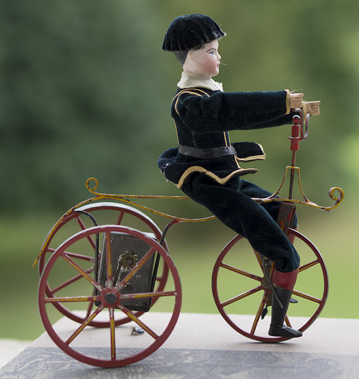 Механическая игрушка Велосипедист с головкой Готье, 1870-е годы