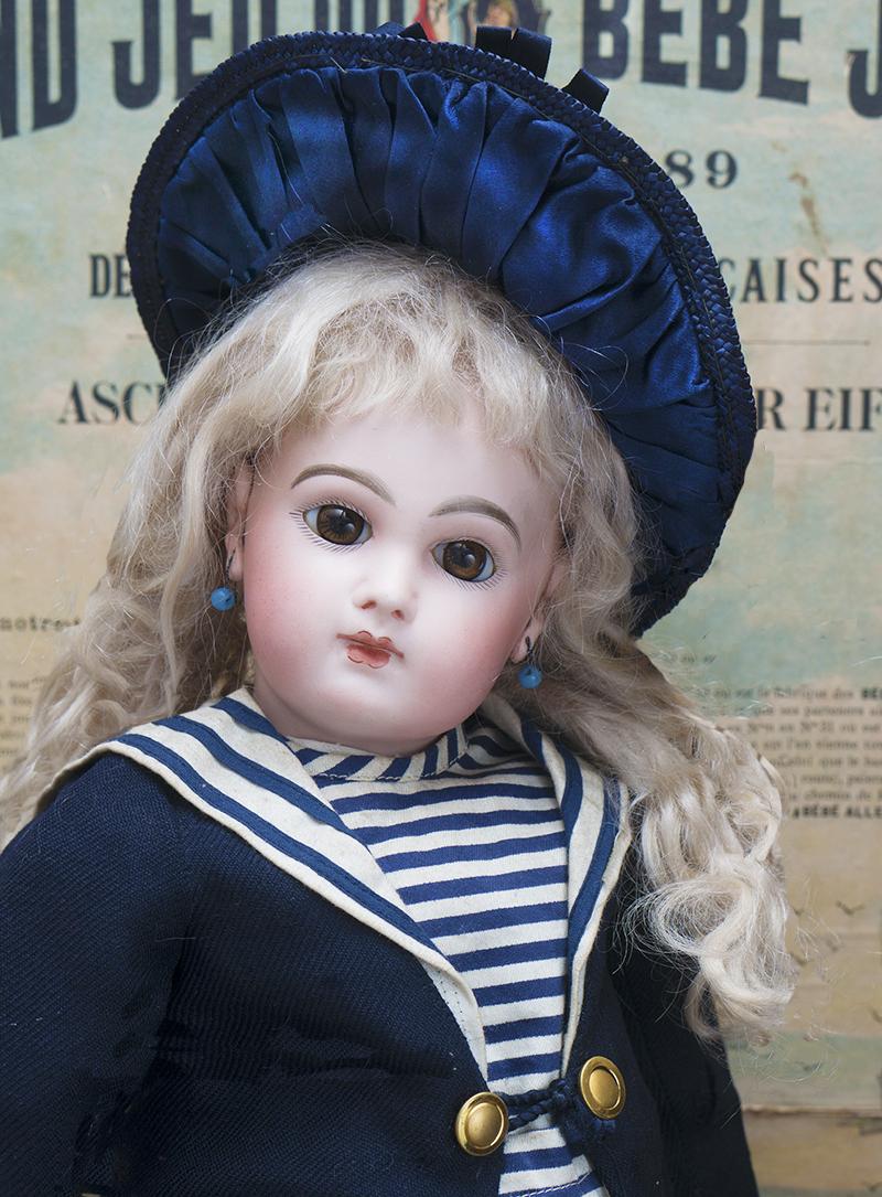 48см Рання кукла  Jumeau Depose в оригинальном матросском костюме
