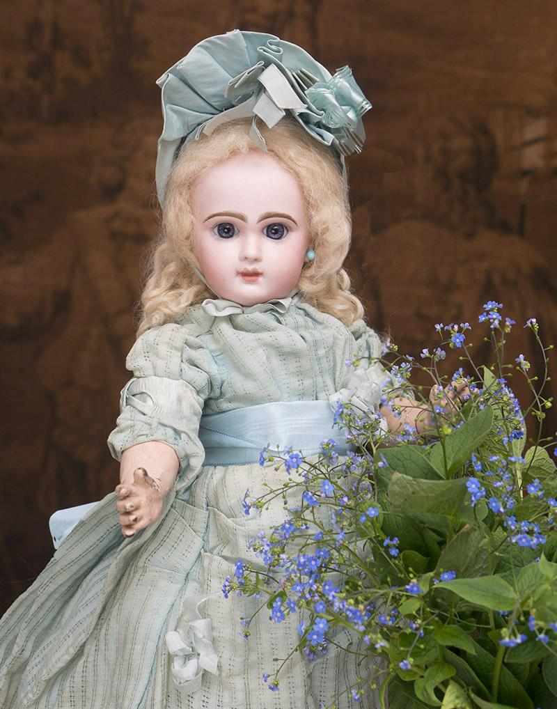 44 см Кукла bebe Jumeau с закрытым ртом, в оригинальном костюме