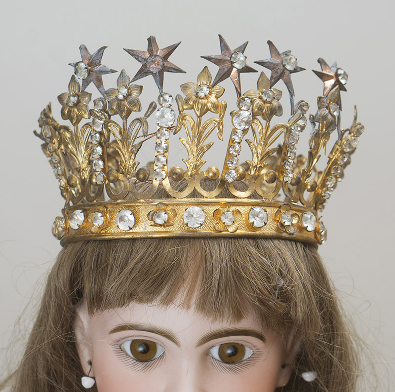 Antique Jeweled Crown for  doll