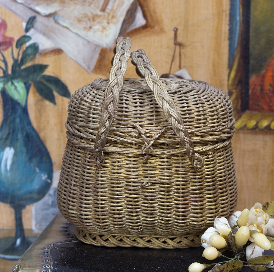 Antique doll basket