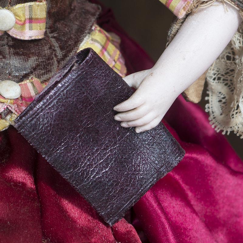 Оригинальная Французская Кожаная сумочка-пормоне для модной куклы