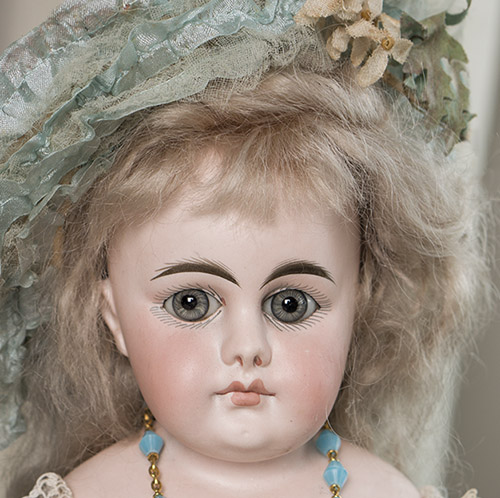 Antique German Bisque Doll,Closed Mouth