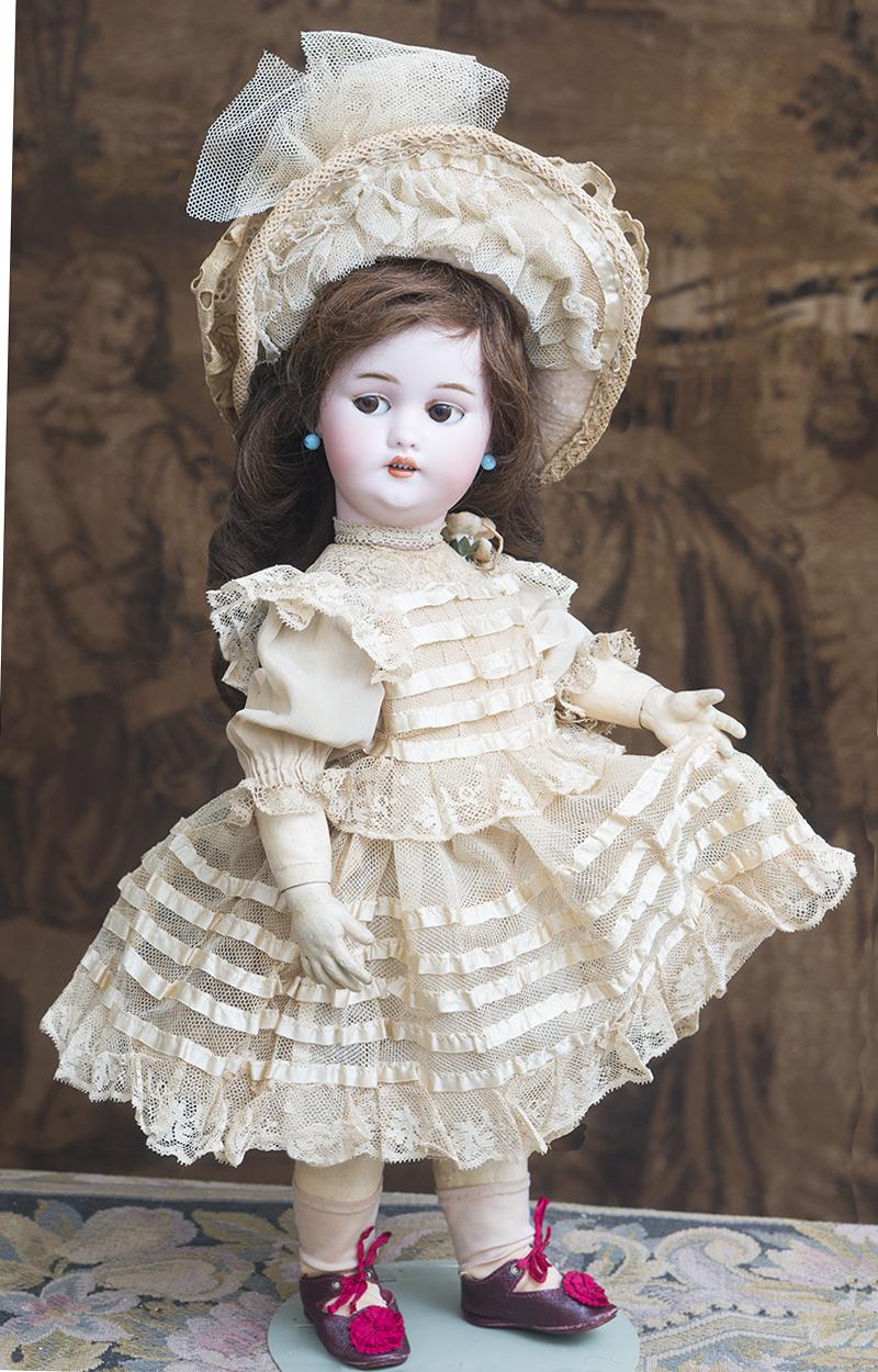 43 см Механическая Шагающая кукла фирмы Roullet & Decamps с флиртующими глазами