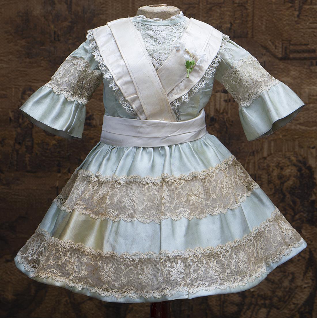 Старинной Оригинальное французское платье для куклы 55-60см