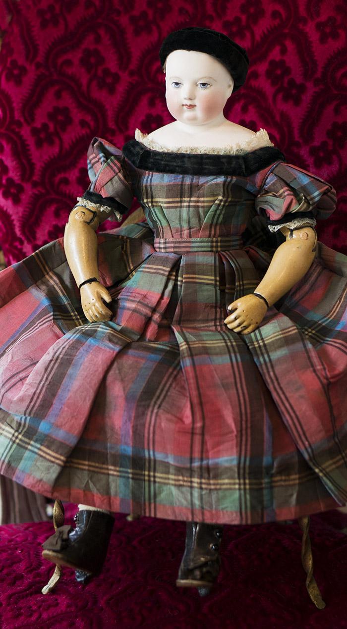 Ранняя кукла HURET, 1850-е годы, 42 см