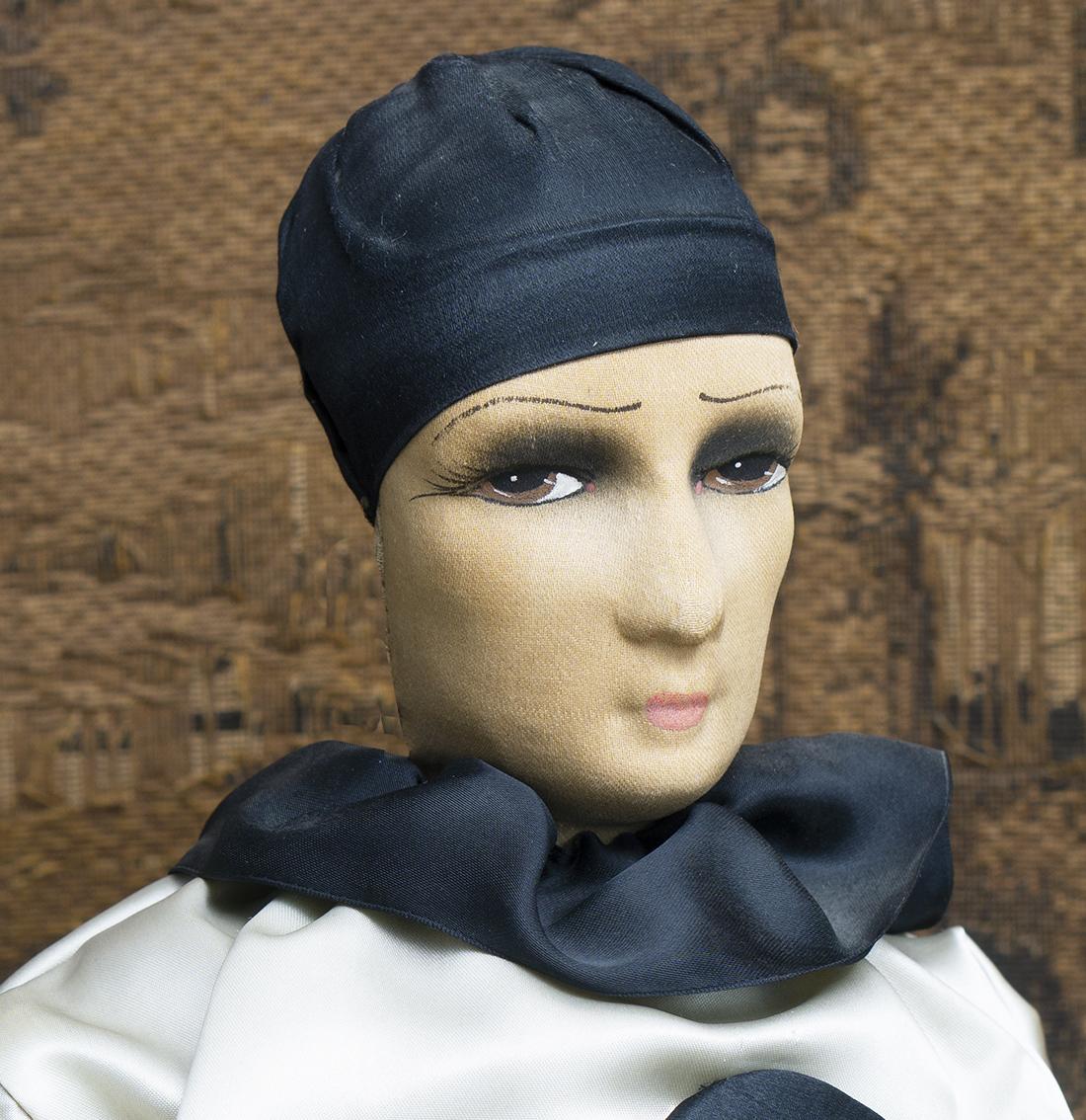 Antique pierrot boudoir doll 1920