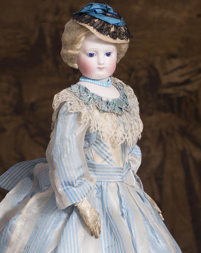 48см Ранняя Редкая Французская модная кукла, 1860е годы