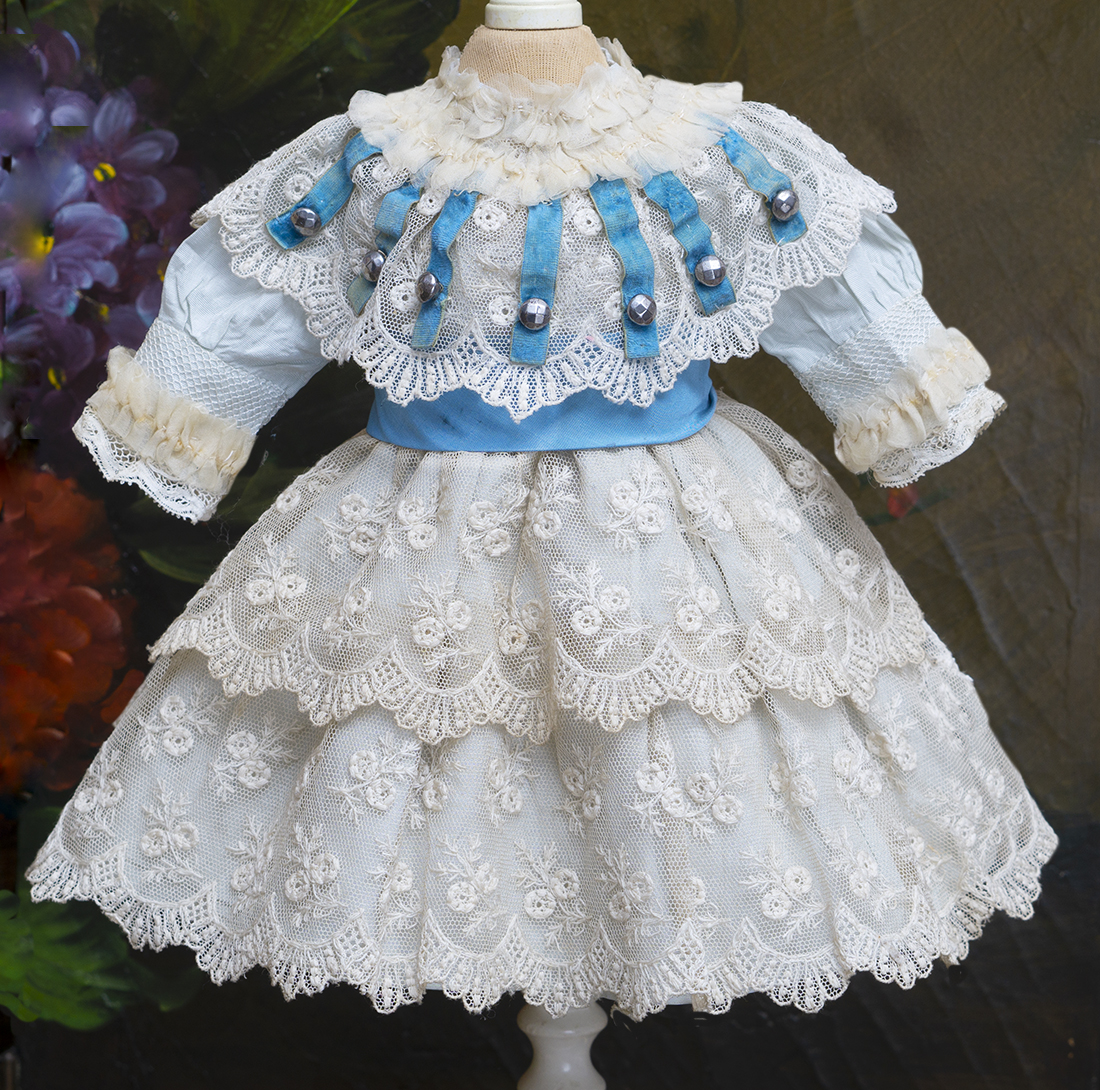 Antique Dress for doll 13-14in