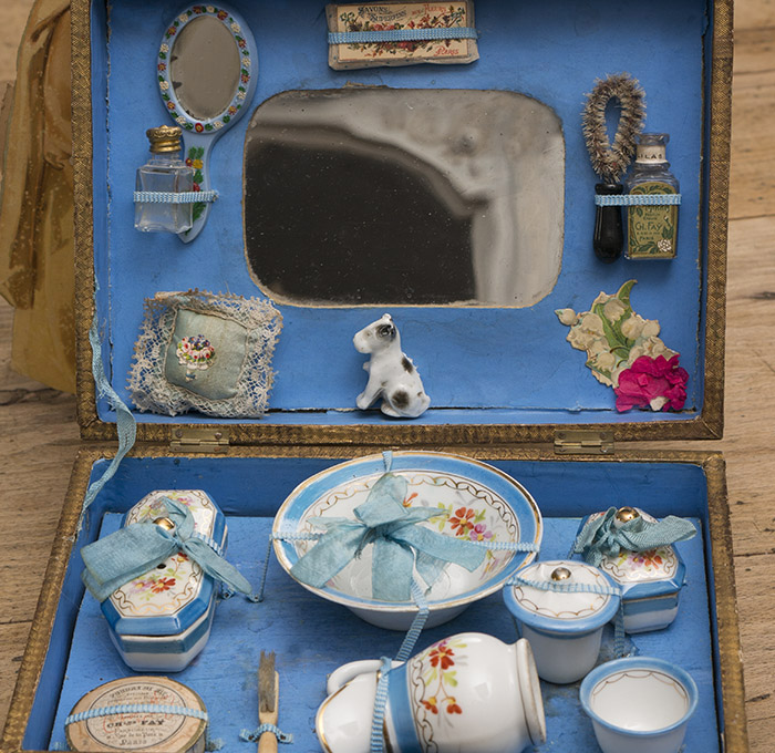 Antique French Toilette set for doll