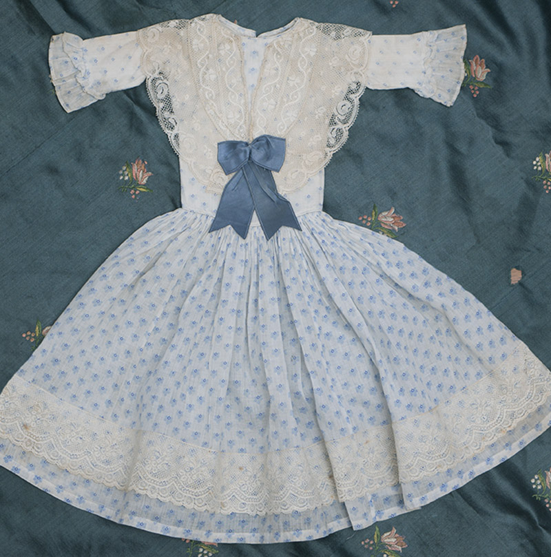 Antique Original Fashion doll dress, c.1860