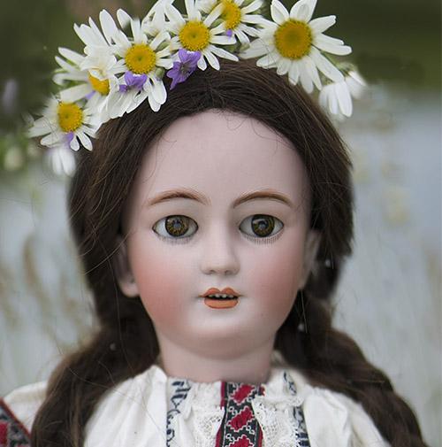 Редкая Кукла-Леди фирмы  Simon&Halbig 58 см
