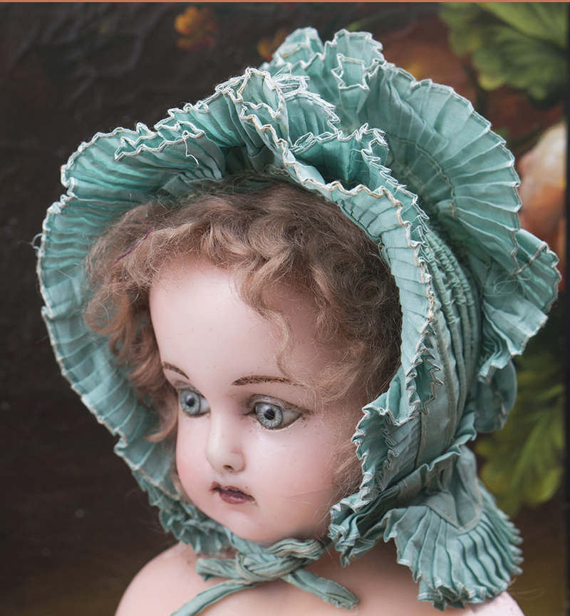 Antique Aqua Bonnet