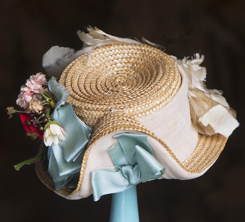 Antique Frech Straw Hat
