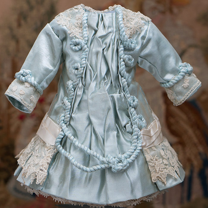 Antique Silk dress for doll 11-12