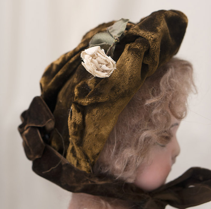 Antique French Original Hat Bonnet for  Bebe doll