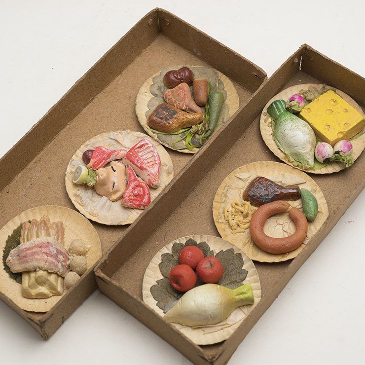 German paper mache Miniature Foods