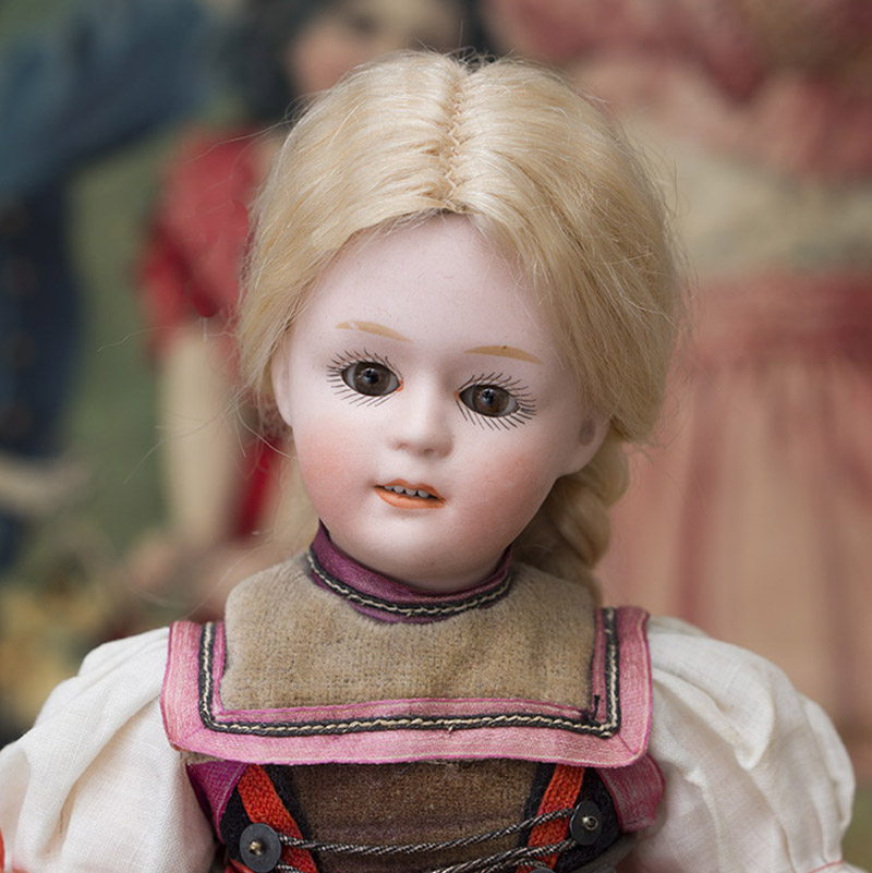 Rare German Bisque Character doll,7711,by Gebruder Heubach