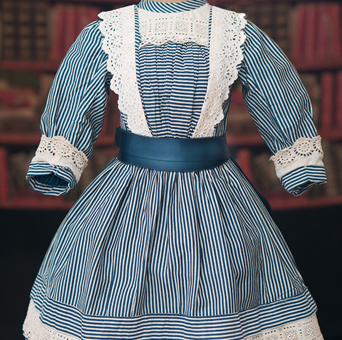 Antique Original Cotton Stripped dress