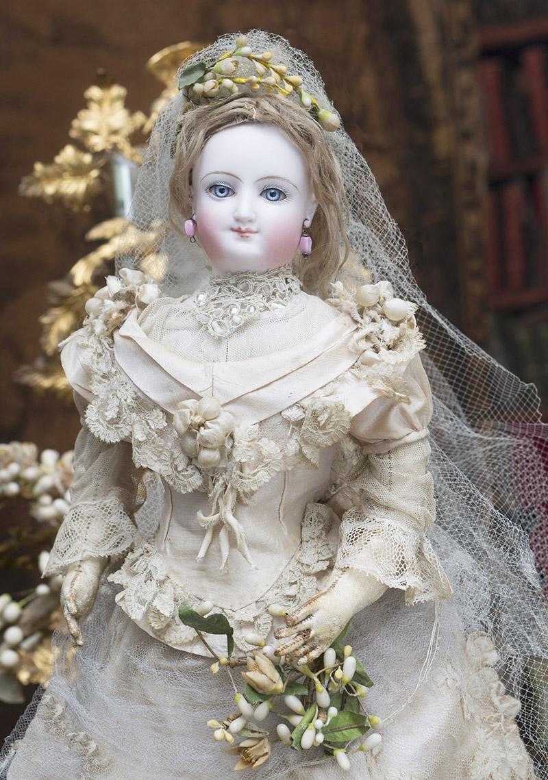 44см Улыбающаяся кукла Брю в свадебном костюме