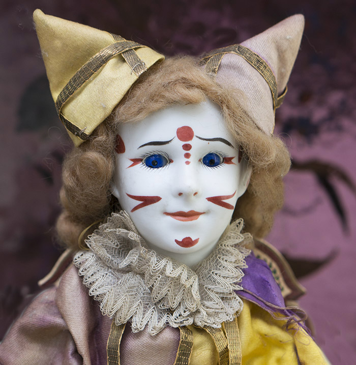 Antique French SFBJ Jester doll