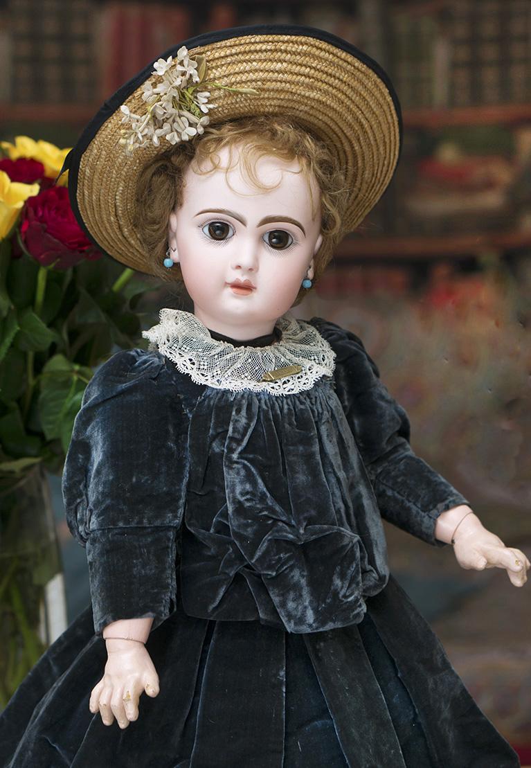 52см Кукла  JUMEAU  в оригинальном платье, 1890-е г.