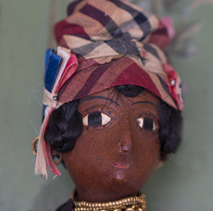 Rare French Black Leather Doll
