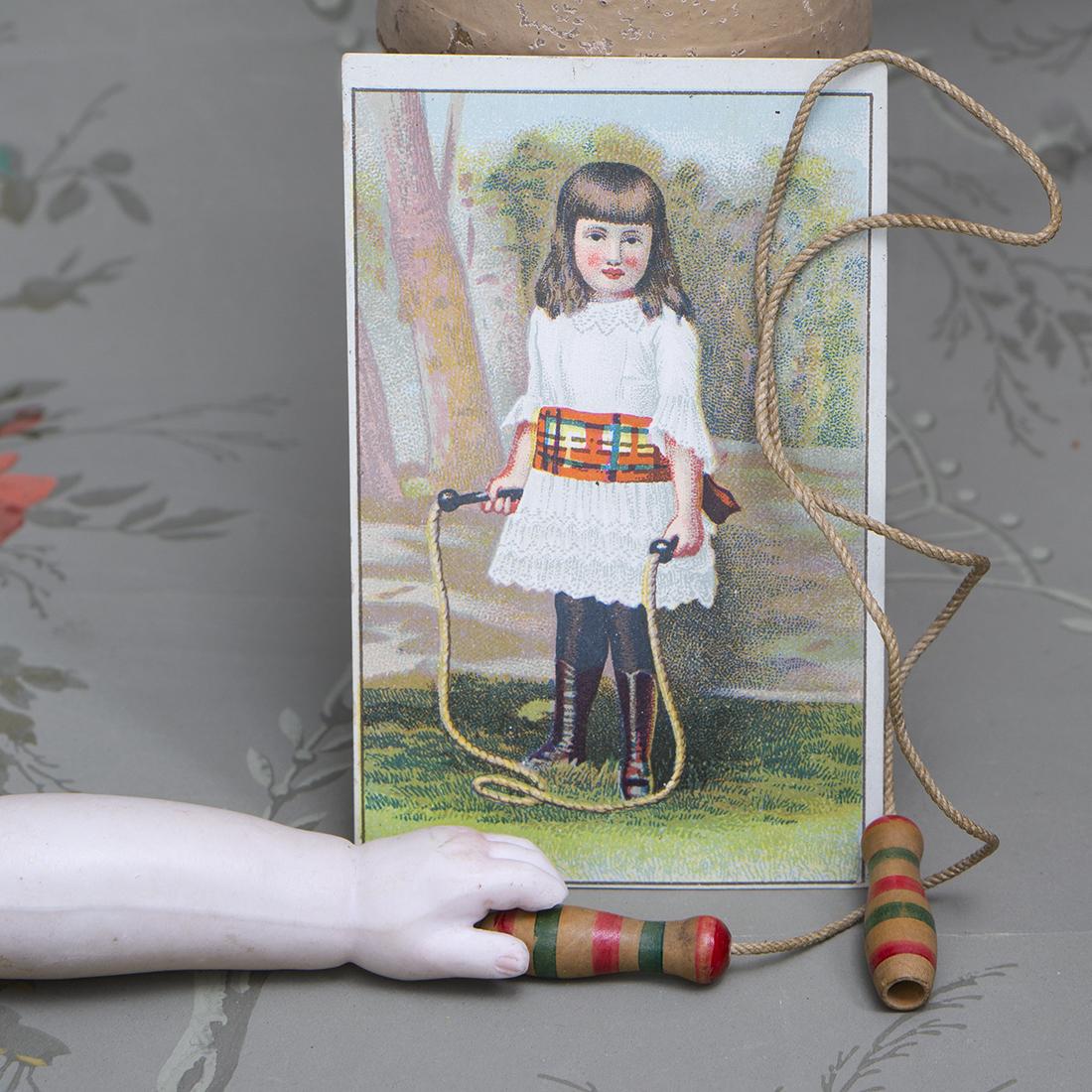 Doll skipping jump rope