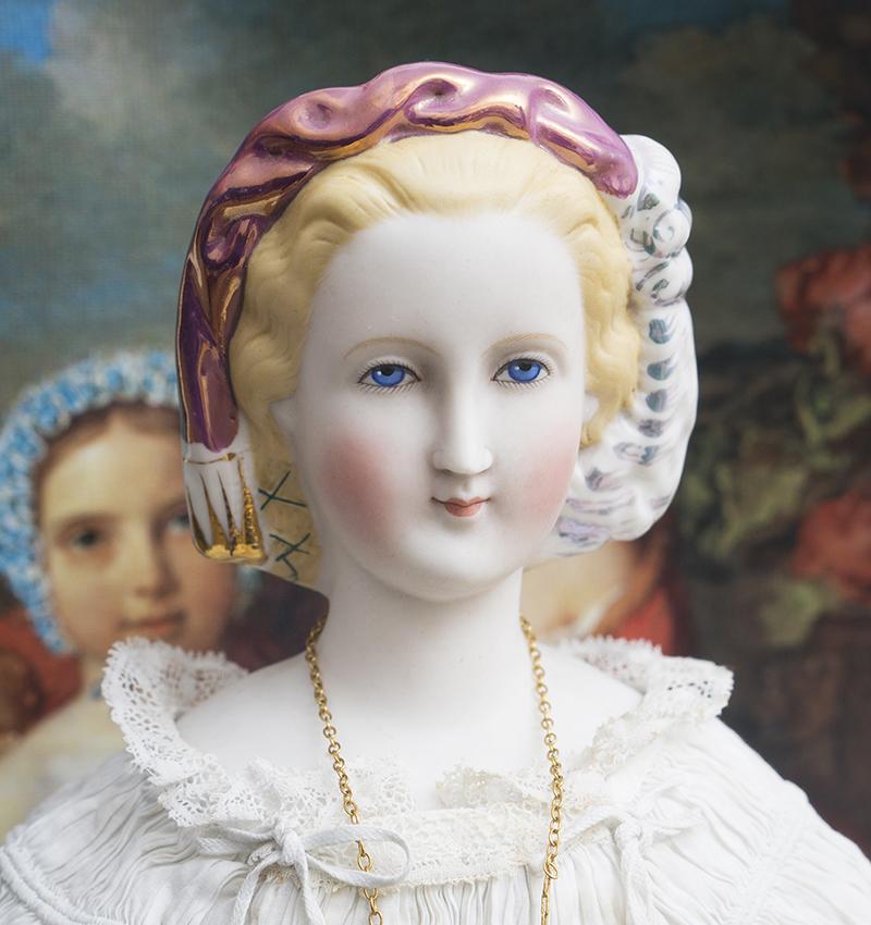 56 см Портретная кукла - Императрица Евгения, 1870е годы
