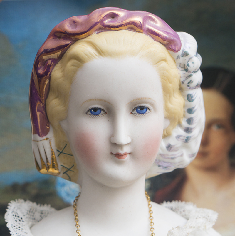 Large Portrait DOLL OF EMPRESS EUGENIE