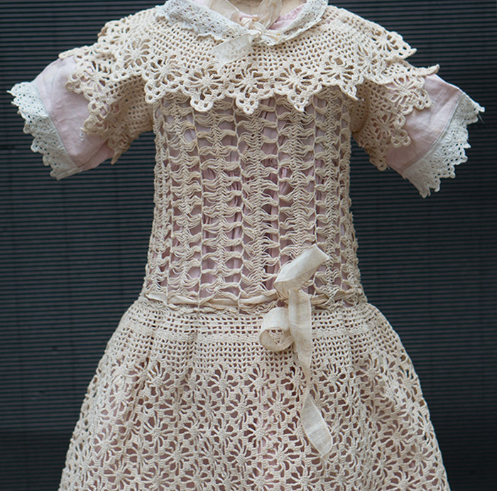 Antique Original Dress for doll 25-26