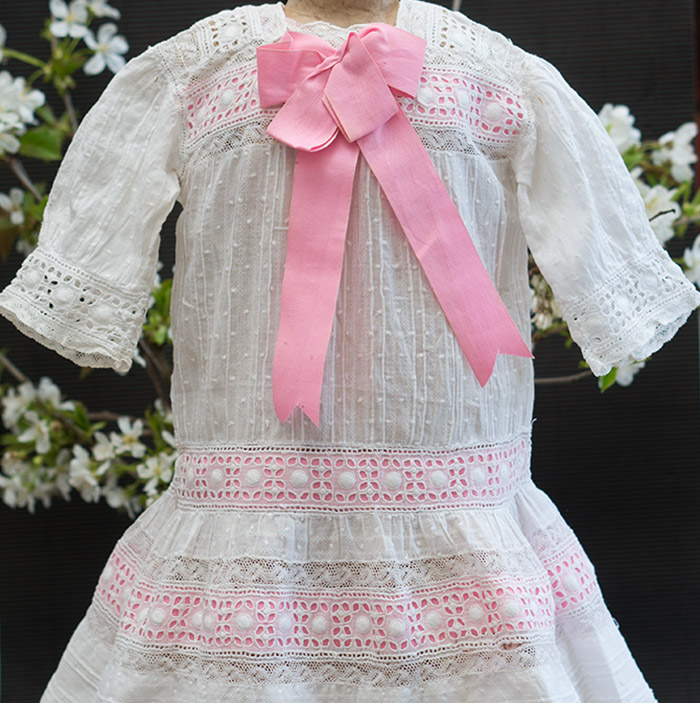 Antique Original Dress for doll 26-27