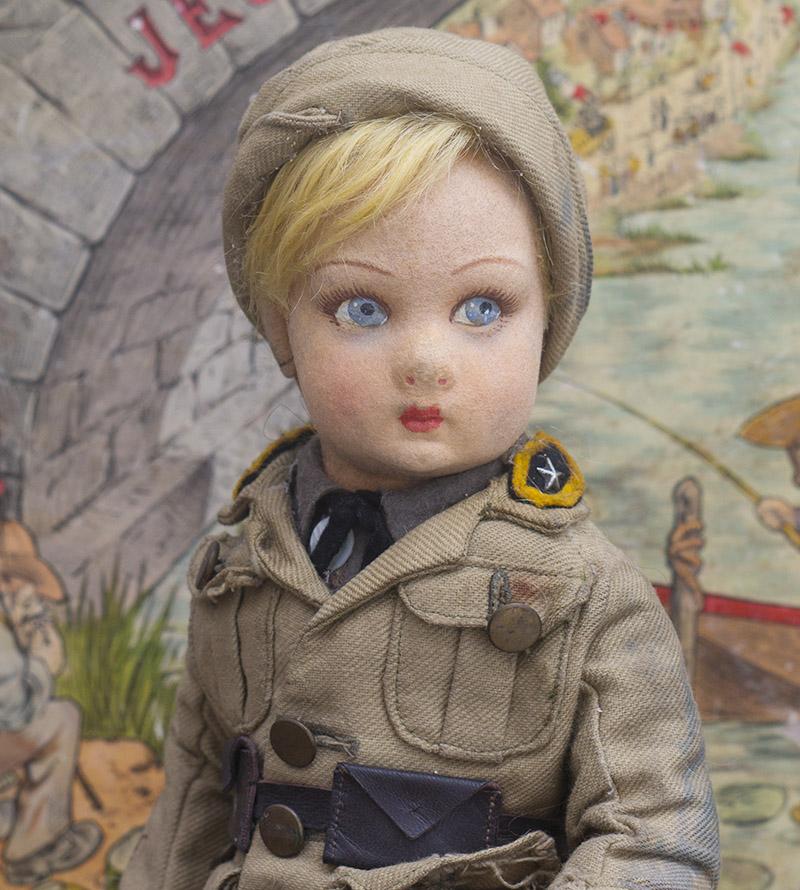 37см Итальянская кукла Ленчи  в оригинальном костюме