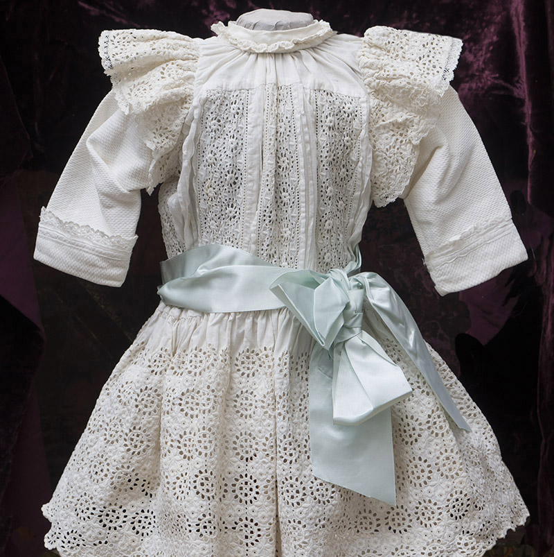 White Cotton Dress of Broderie Anglaise
